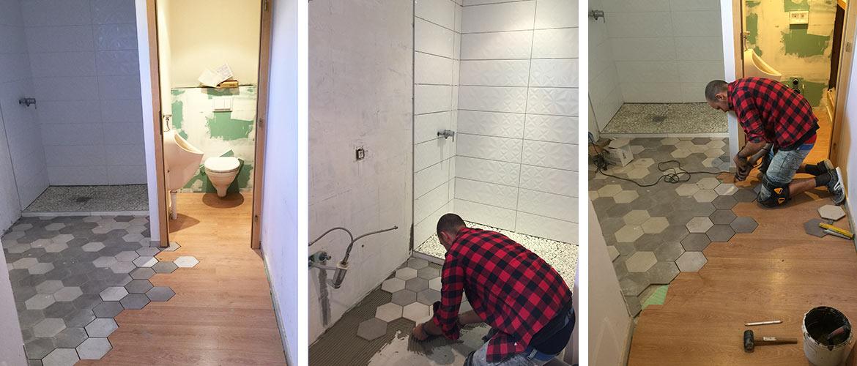Illustration Rénovation d'une salle de bain avec WC à Obernai