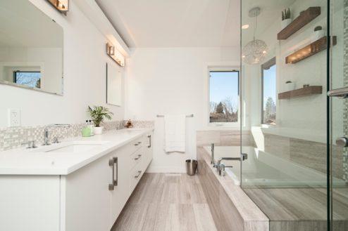 salle de bain en bois