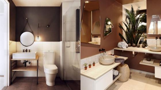 salle de bain marron inspiration
