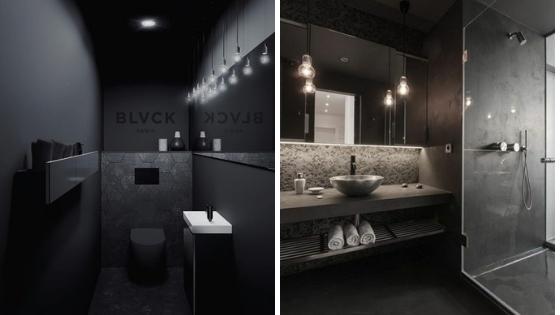 noire salle de bain